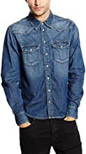 Pepe Jeans Carson - Chemise casual - Taille normale - Manches longues - Homme - Bleu (Denim) - Medium (Taille fabricant: M)