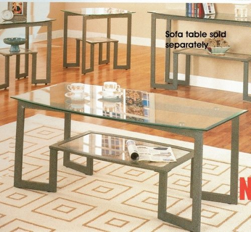 Low Metal And Glass Coffee Table: Buy Low Price 3PC Round Black Chrome Metal Coffee Table