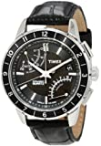 Timex Men's T2N495 Intelligent Quartz SL Series Fly-Back Chronograph Black Leather Strap Watch