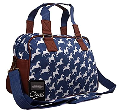 New Womens Canvas Horse Gym Maternity Hand Luggage Travel Holdall Flight Bag