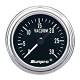 Sunpro CP7978 Mechanical Vacuum Gauge &#8211; Black Dial