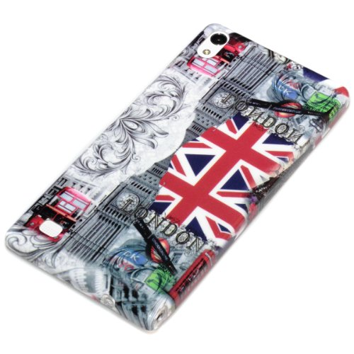 deinPhone AR-610031 Huawei Ascend P6 Cover London Sights GB Flag