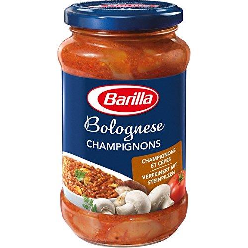 Barilla - Sauce bolognaise aux champignons et aux cêpes - Le bocal de 400g - (pour la quantité plus que 1 nous vous remboursons le port supplémentaire)