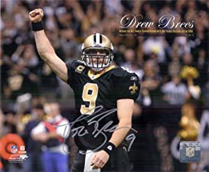 Signed Brees, Drew (New Orleans Saints) 8x10 Photo autographed by Powers Collectibles