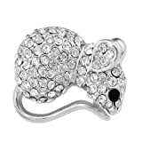 OMYGOD Crystal squirrel brooch - 2cm x 2.5cm