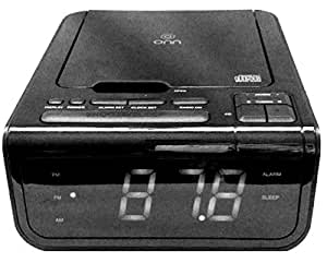 onn cd clock radio with usb device charging station electronics. Black Bedroom Furniture Sets. Home Design Ideas