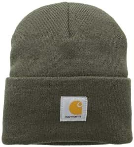 Carhartt Watch Hat Bonnet de travail, Moyen, Marron/vert