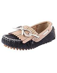 Doink Kids Boys Leather Shoes - Black Beige