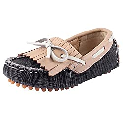 Doink Kids Boys Leather Shoes - Black Beige / 34 EU (Junior)