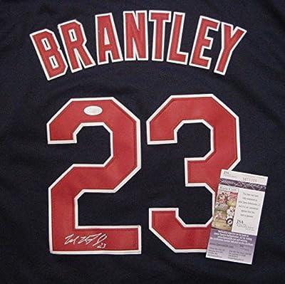 Michael Brantley Cleveland Indians Autographed Blue #23 Jersey JSA COA