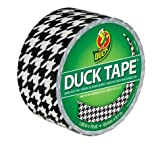"Duck Brand Houndstooth Pattern Duct Tape, 10 yards Length x 1-7/8"" Width. Perfect as Holiday Gift!"
