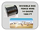 Invisible Dog Fence Wire 14 Gauge 1000 BLACK InGround Fence Burial Boundary