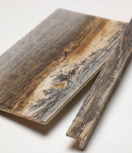 Stikwood Reclaimed Weathered Wood Corner Trim, Grey