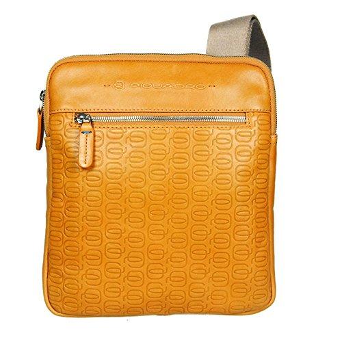 "Borsello in pelle Piquadro con tasca tablet, linea ""Leonardo W55"""