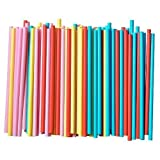 Assorted Colors Smoothie Straws, Pack of 100 Pieces