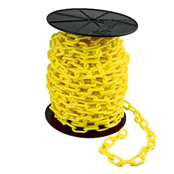 Mr. Chain Reel Plastic Barrier Chain, Yellow