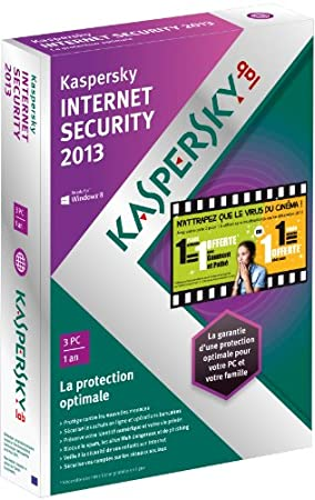 Kaspersky internet security 2013 (3 postes, 1 an)