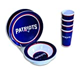 Motorhead Products New England Patriots 12-Piece Melamine Dinnerware Set