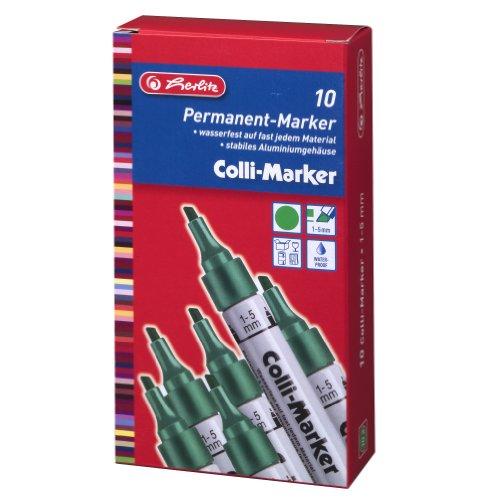 Herlitz 10845378 Marqueur Vert, Argent
