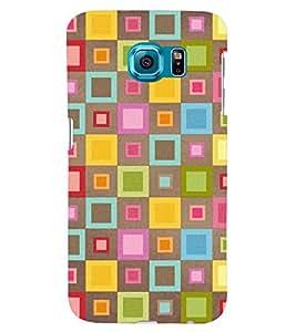 Printvisa Multicolour Check Pattern Back Case Cover for Samsung Galaxy Note 5 Edge::Samsung Galaxy Note 5 Edge 2