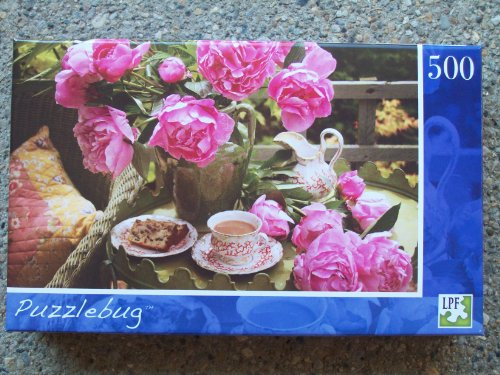 Puzzlebug - 500-Piece Puzzle - Peonies & English Tea by LPF - 1