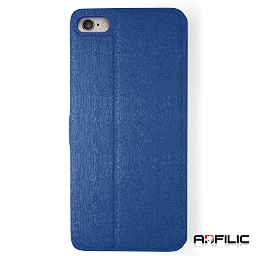 iPhone 6 flip Case - Best for Protection, Scratch Proof, and Vibrant Hard Case. Smart Touch View Window and Slider - Makes a Great Gift - Blue