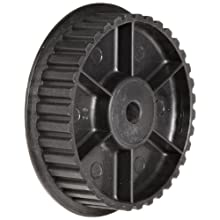 "Timing Belt Pulley, 0.200"" Pitch, 60 Grooves, 0.375"" Bore Diameter, 3.800"" Outside Diameter, Glass Filled Nylon, Single Flange"