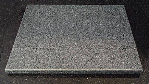 Universal Pizzastein - Backstein - Heißer Stein - Grillstein aus poliertem Granit 38x30x2cm
