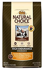 NATURAL CHOICE Adult High Endurance 30/20 Chicken Meal, Whole Brown Rice and Oatmeal Formula, 30 lbs.