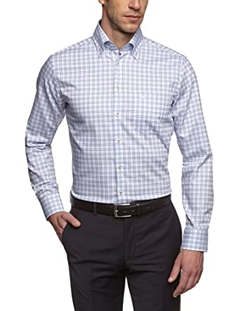 Seidensticker Herren Regular Fit Businesshemd BD DK PATCH 185986, Gr. XXX-Large (Herstellergröße: 48), blau