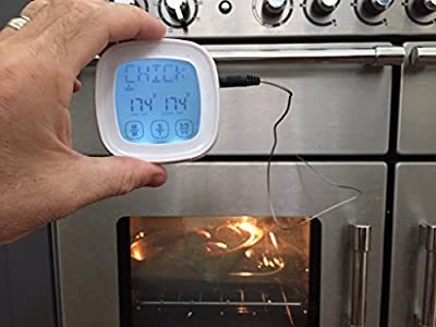 Supreme Home Cook. The ORIGINAL Oven & BBQ Touchscreen Digital Meat Cooking Thermometer and Timer with 2 Stainless Steel Probes for Cooking meats to perfection.
