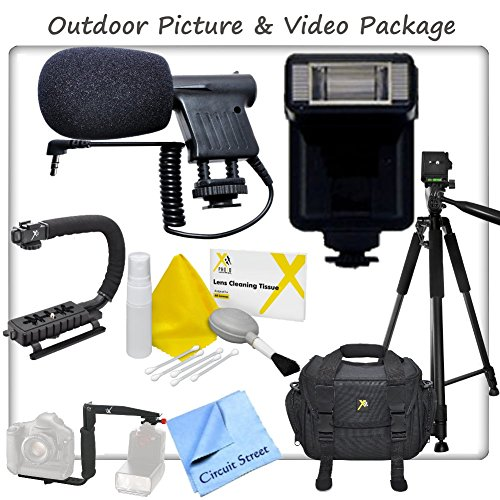 Outdoor Picture & Video Package For Nikon Df, D4S, D4, D3X, D90, D300S, D600, D3000, D3100, D3200, D3300, D5000, D5100, D5200, D5300, D7000, D7100, Digital Slr Cameras + Camcorders, Includes Full Size Extendable Tripod, Digital Camera Flash, Boom Micropho