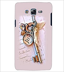 PrintDhaba Antique Key D-2415 Back Case Cover for SAMSUNG GALAXY J7 (Multi-Coloured)