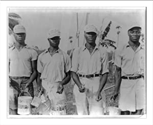 Historic Print (L): [Booker T. Washington Institute, Liberia. January 1940: students with paint brushes and