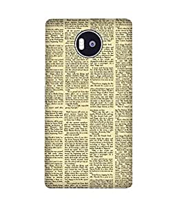 Newspaper Back Cover Case for Microsoft Lumia 950 XL