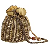 #4: SPHINX Contemporary Handcrafted Golden Potli Bag for Women/Girls - 1 Piece