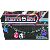 Monster High Charm Bracelet with metal charms and jelly faceted beads (Skull)
