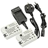 DSTE® 2pcs LP-E8 Rechargeable Li-ion Battery + Charger DC99U for Canon EOS 550D, 600D, 650D, Kiss X4, Kiss X5, Kiss X6i, Rebel T2i, Rebel T3i, Rebel T4i