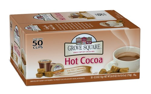 Grove Square Hot Cocoa, Salted Caramel, 50 Single Serve Cups (Hot Chocolate Salted compare prices)