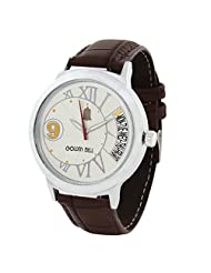 Golden Bell Stylish White Sporty Dial Watch - B00XN81G6I
