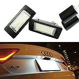 iJDMTOY OEM Replacement Xenon White LED License Plate Light Assemblies For Audi A1 A6 A7 Q5 TT Volkswagen Jetta Passat Touareg Touran, etc