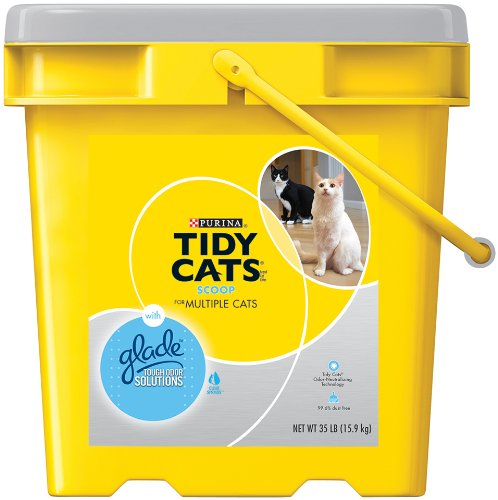 GOLDEN CAT COMPANY 702114 Tidy Cats Glade Tough Odor Scoop Pail, 35-Pound (070230153487)