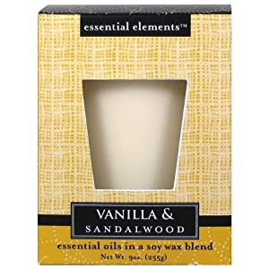 Candle lite 9 Oz Vanilla and Sandalwood Scented Candle Sold in packs of 4