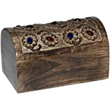 Wooden Jewellery Boxes from India Hand Engraved Gifts for Mom
