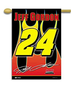 NASCAR Jeff Gordon #24 2-Sided 28-by-40-Inch Banner with Pole Sleeve by BSI