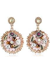 """Betsey Johnson """"Woven"""" Flower Drop Earrings"""
