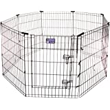 MidWest Exercise Pen with Door, 30-Inch, Black