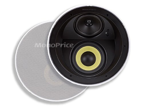 Review Monoprice 107605 Dual Woofer Micro Flange In Ceiling Speakers