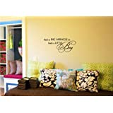 Newsee Decals Such a big miracle in such a little boy Vinyl wall art Inspirational quotes and saying home decor decal sticker