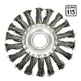 Stahlbürste Zopfrundbrüste Ø 115 mm Schleifbürsten Winkelschleifer